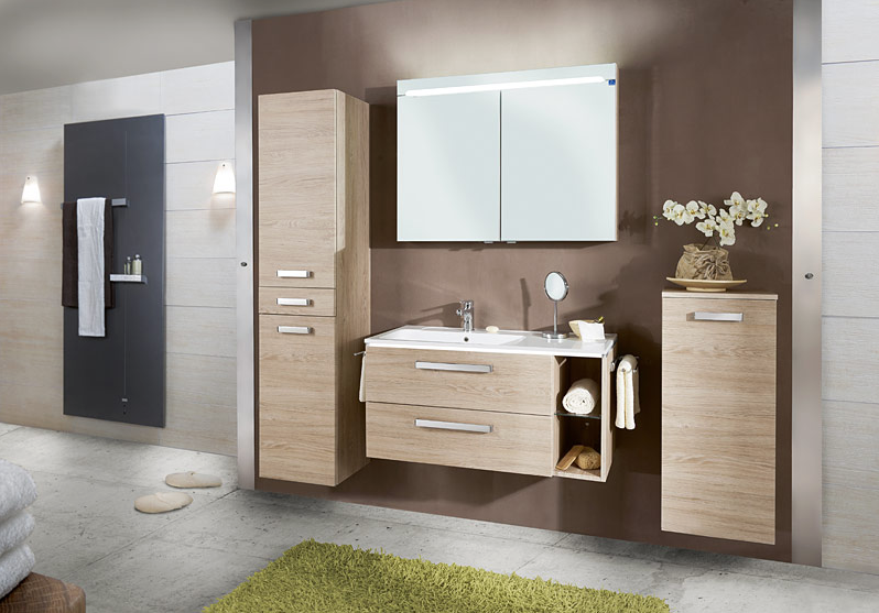 komplettbad optipremio 2070 badblock 100cm living with style. Black Bedroom Furniture Sets. Home Design Ideas